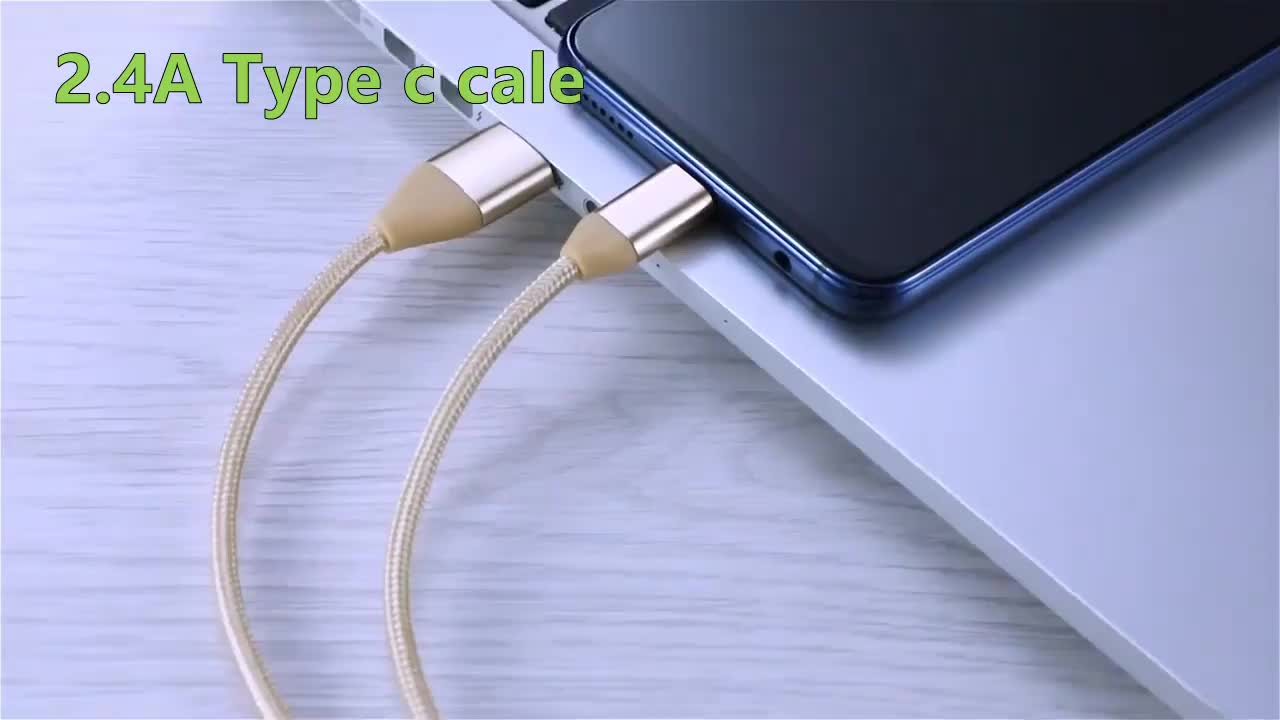 Manufacturer 1m 2m 3m OEM Nylon Braided Fast Charging USB Type c cable
