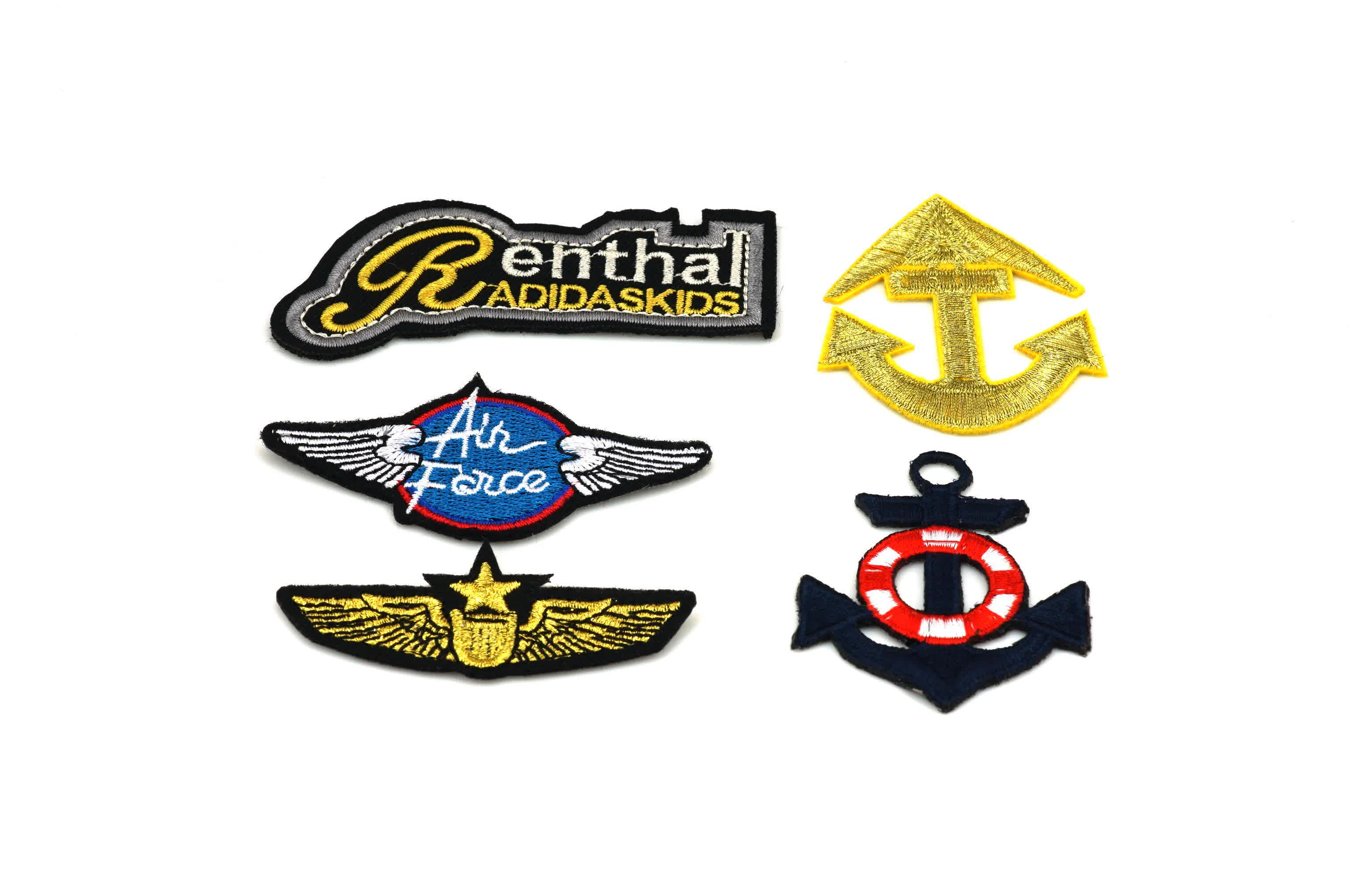 OEM Custom Fashion Design  Patches Embroidery for Garments