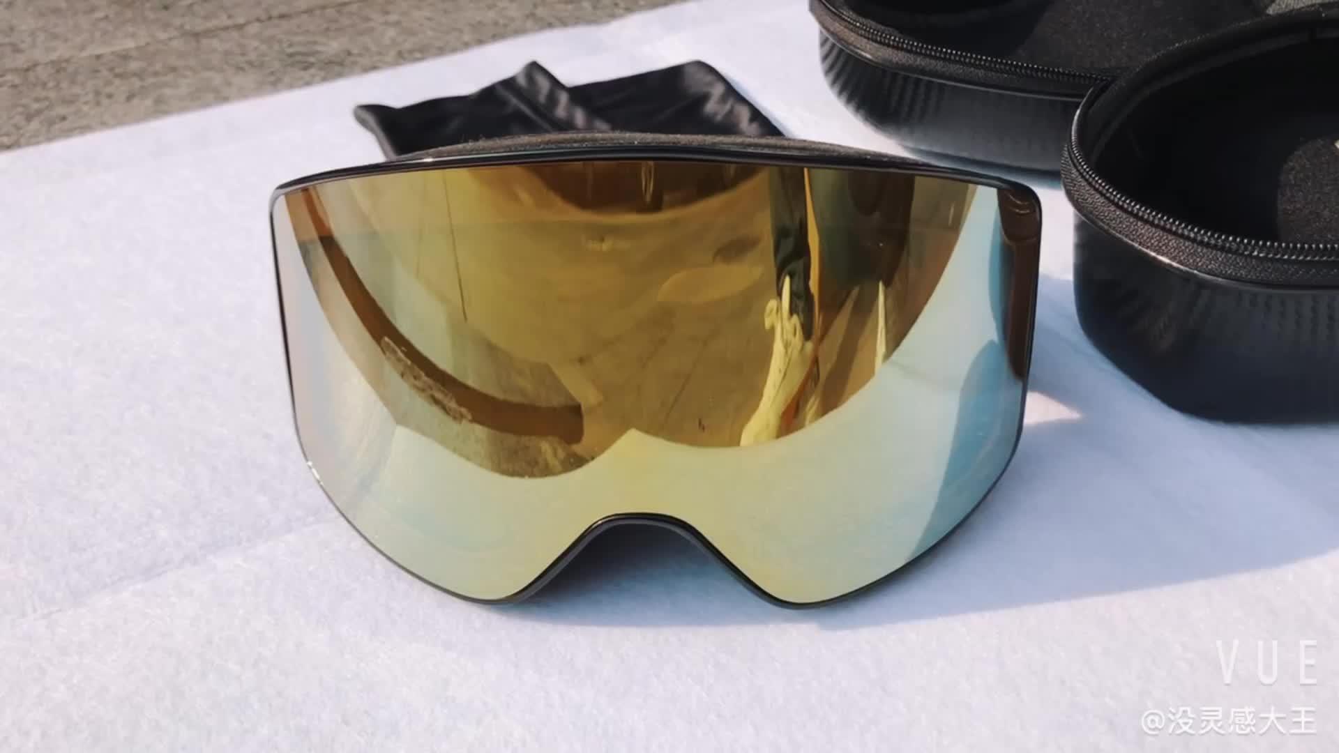 2020 erwachsene OTG Doppel Objektiv Elastische Riemen Snowboard Individuelles LOGO Anti-fog Anti-Uv Sport Maske Ski Brille