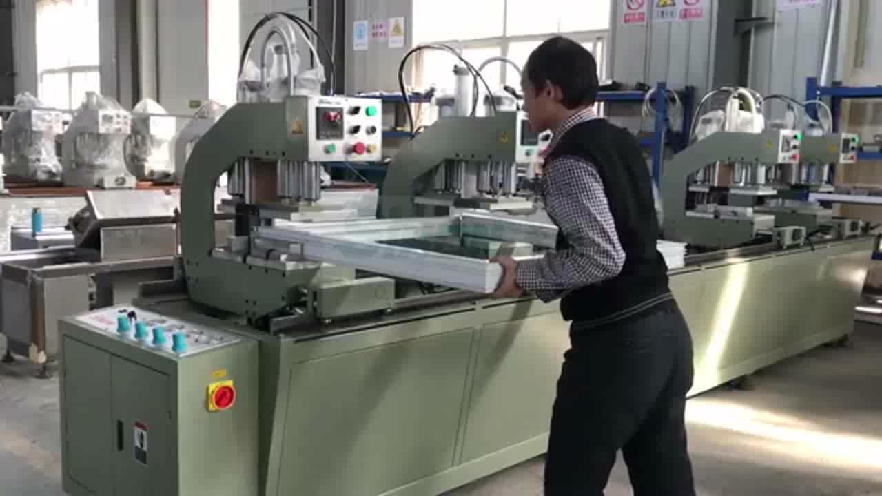 Fabrik Preis Doppel Köpfe Schweißen UPVC Fenster, Der Maschinen