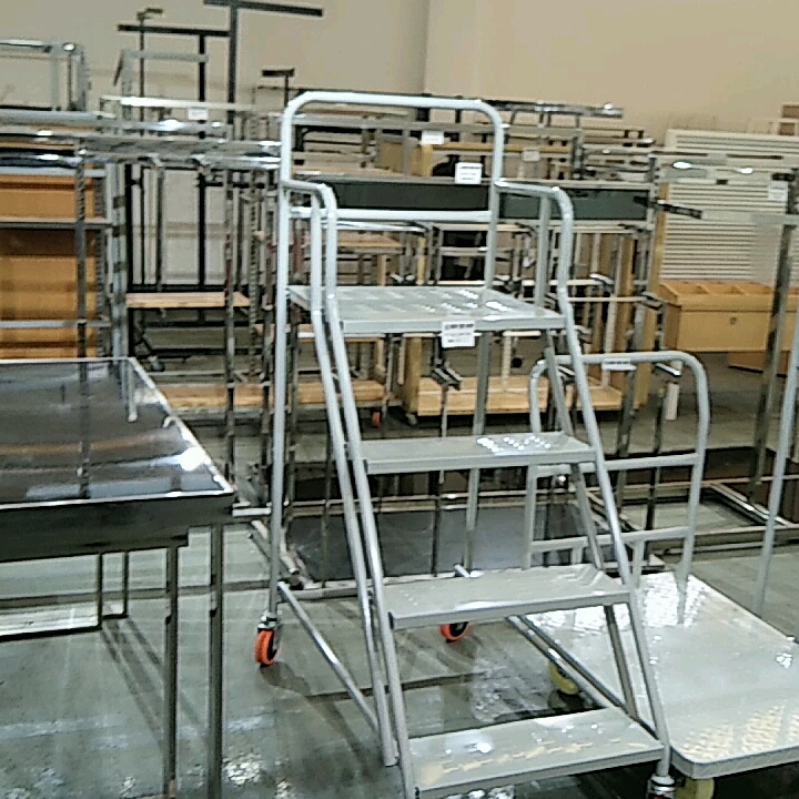 RH-LT04-1 640*500*1200mm Movable Step Cart Warehouse Ladder Trolley