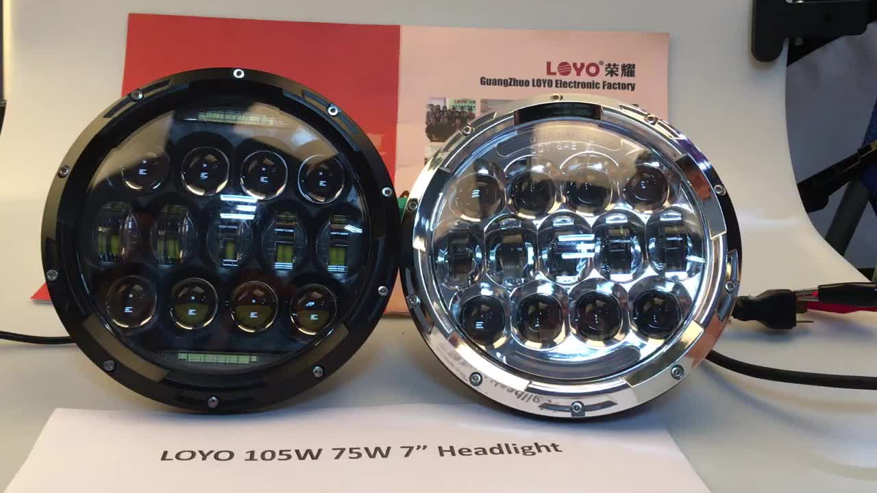 "7"" 105w led lighting headlight for Jeep Wrangler from Light Factory"