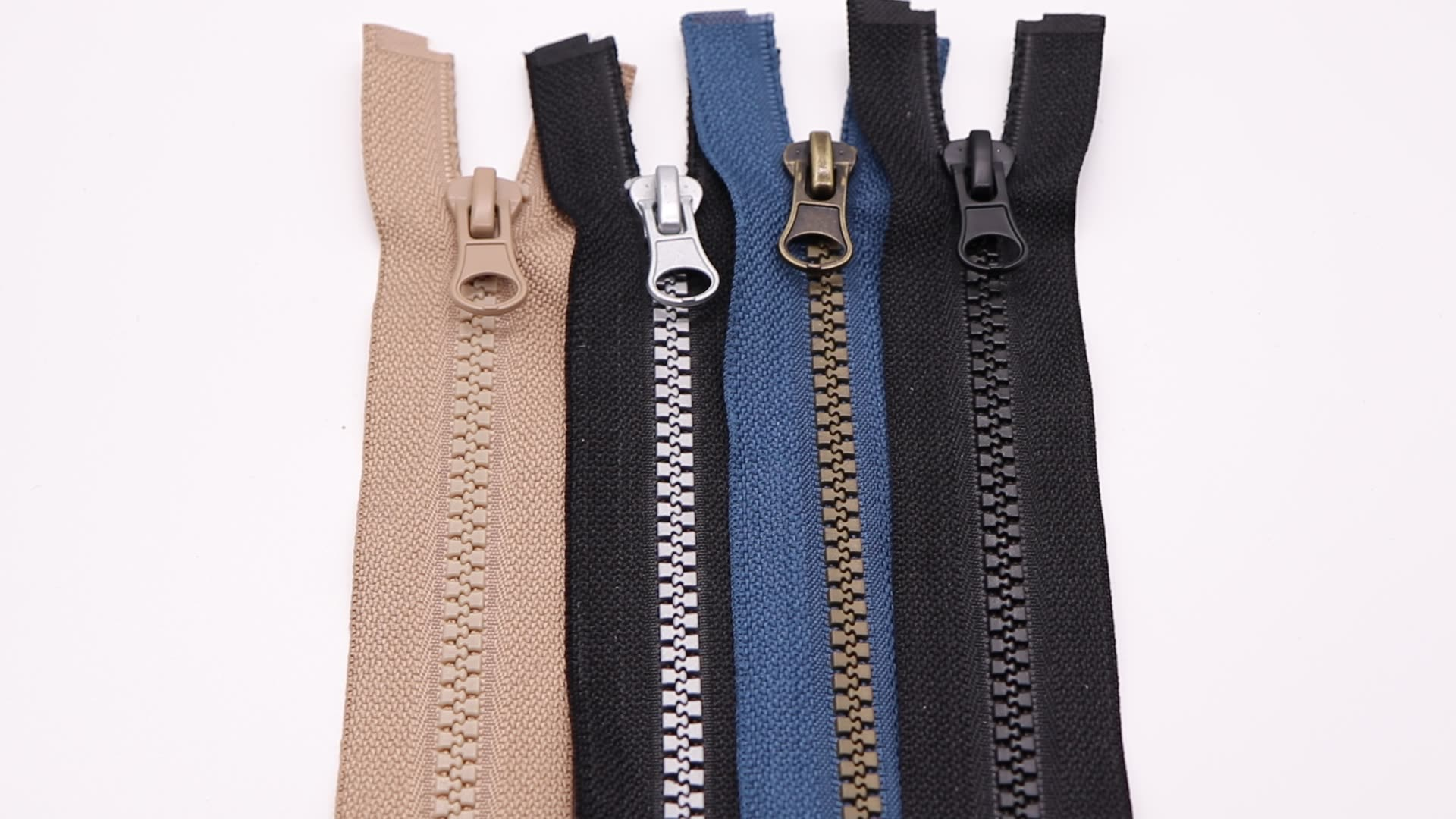 bulk buying zipper #5 custom long zipper plastic open end  jacket resin zipper