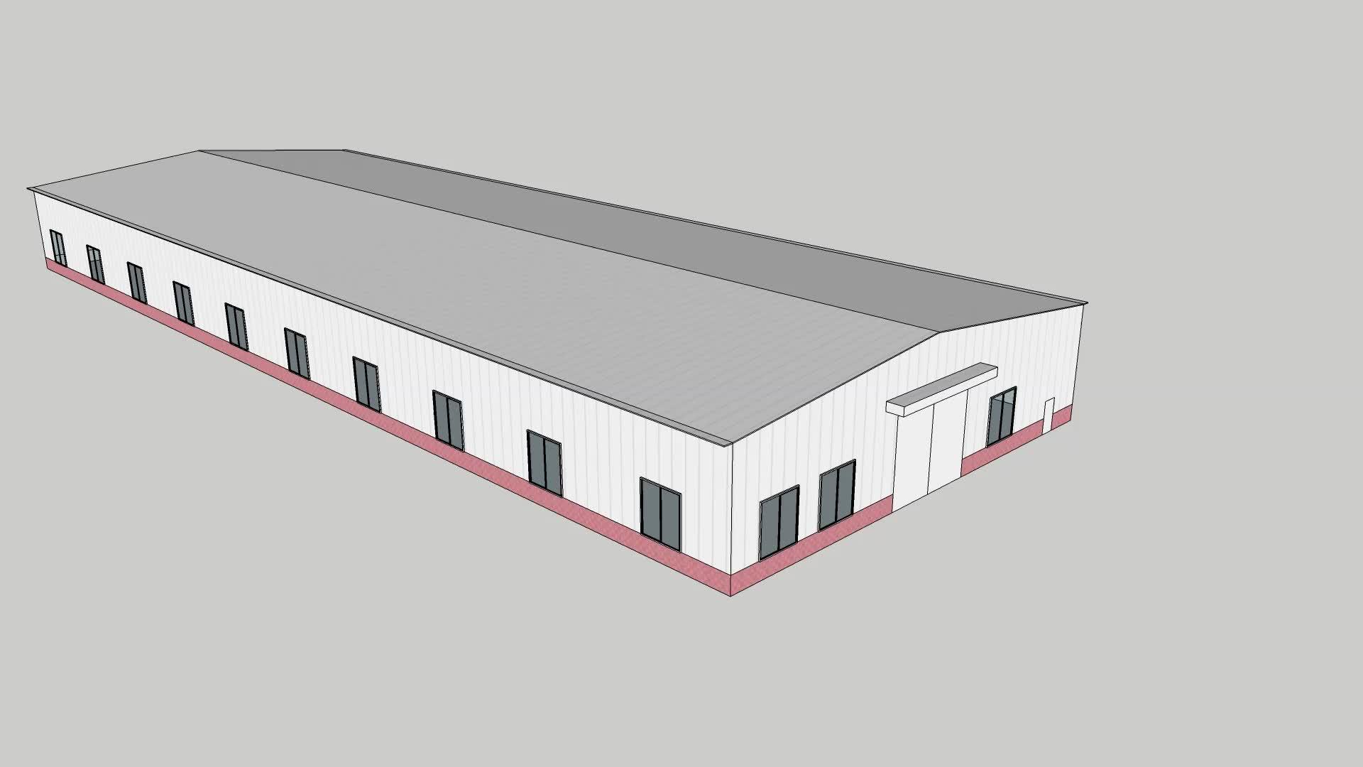 Kolay monte modüler prefabrik çelik yapı daire çelik yapı