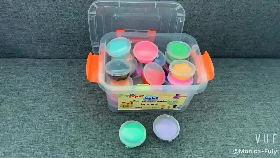 24pcs Colorful Modeling Soft Clay Dough Clay Air Dry Ultra Light Magic Clay Set