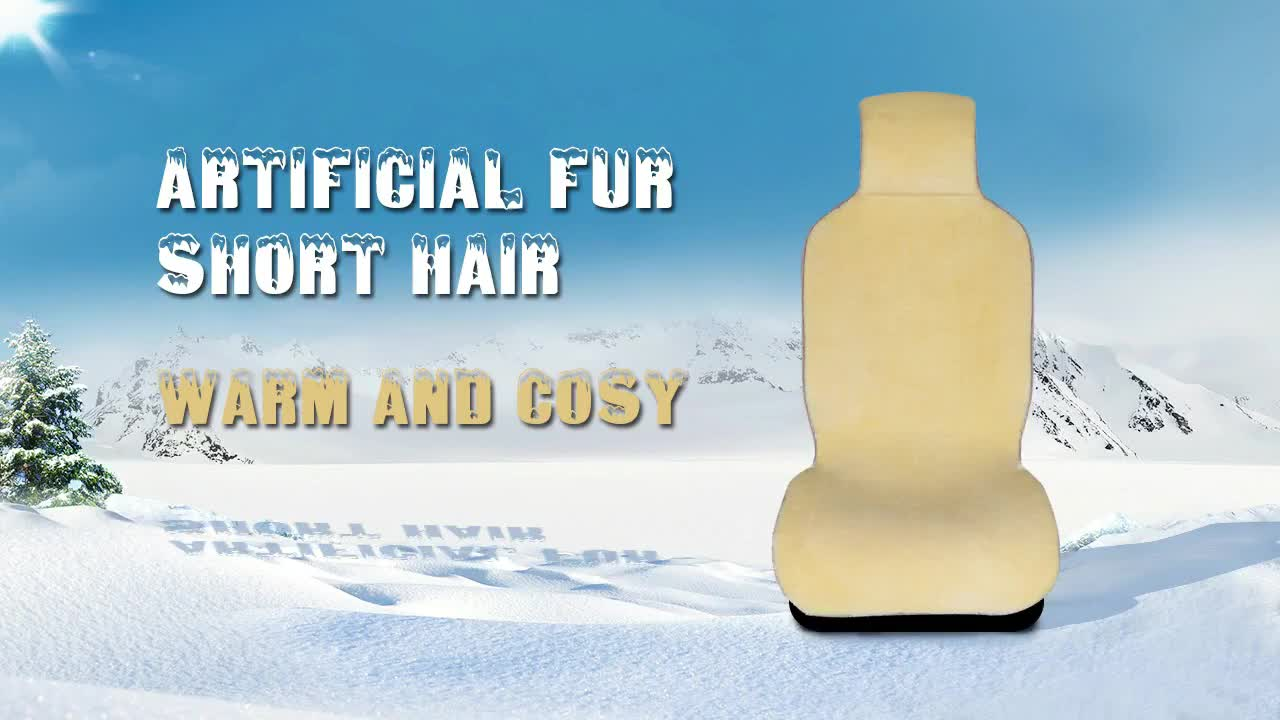 Factory Price Eco-friendly  no chemical smell fur sheepskin car seat covers