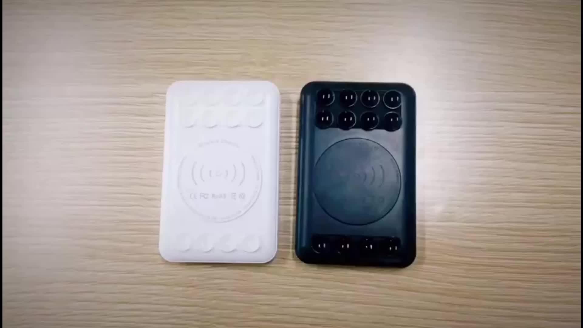 Khuyến Mại Quà Tặng Siêu Mỏng Sạc Di Động Với Một Chiếc Ống Hút Phổ Ngân Hàng Điện Không Dây 5000 MAh Kép USB Powerbanks