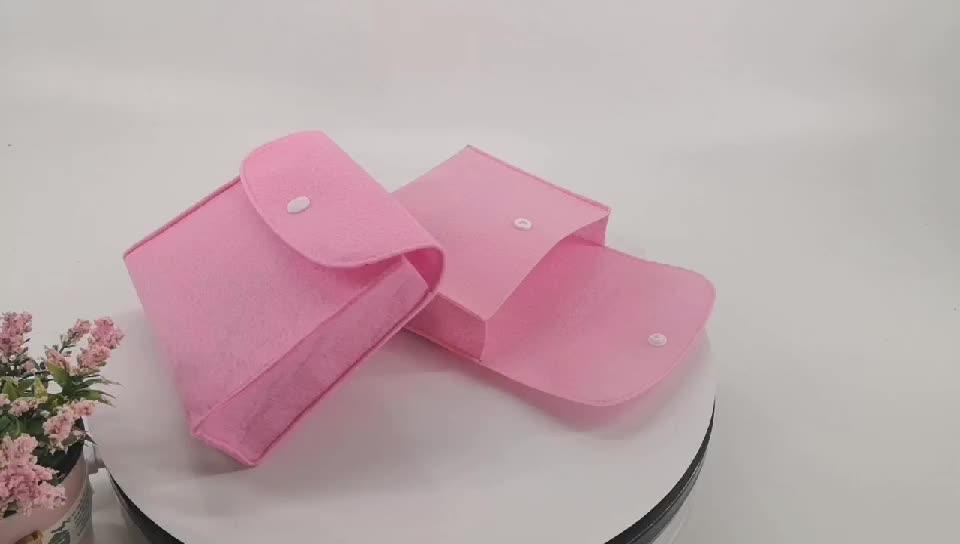 ARTGIMEN Pink Felt Essential Oil Carrying Case Bag Essential Oil Storage Travel Organizer Pouch Bag For Oil