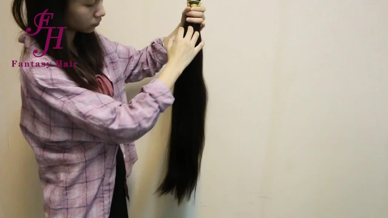 Çift çekilmiş işlenmemiş ham bakire manikür hizalanmış saç satıcıları, toptan hintli saçı Remy 100 insan saç örgü için toplu