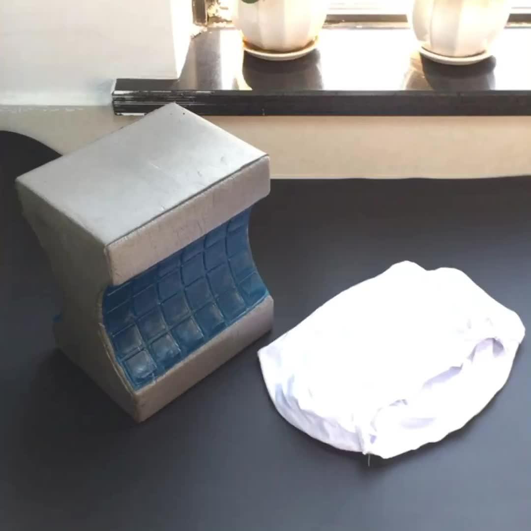 100% удобный бамбуковый уголь пены памяти контур колено подушка ног подушка комфорт ортопедический Охлаждающий Гель Колено подушка для