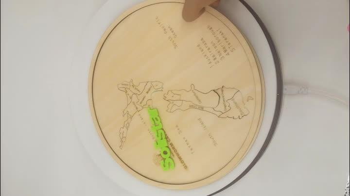 Taglio laser di legno mappa del mondo di puzzle canada di birra in legno mappa
