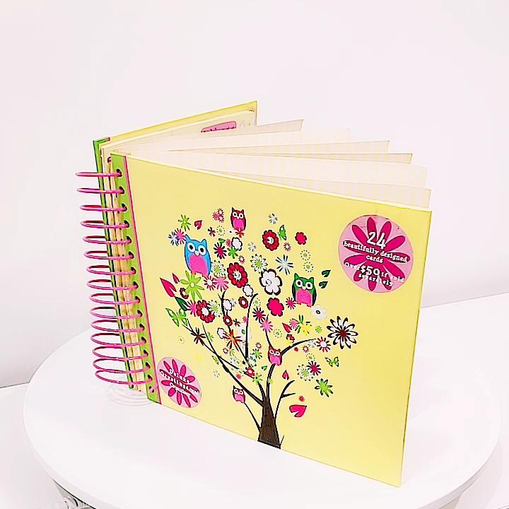 Masa depan GF-0038 Mewah Colorful 3D Kartu Ulang Tahun Buatan Tangan Buku Organizer Grosir