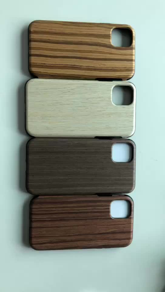 Natural Real Wood Phone Case for iPhone XI Strong Shockproof Phone  Case