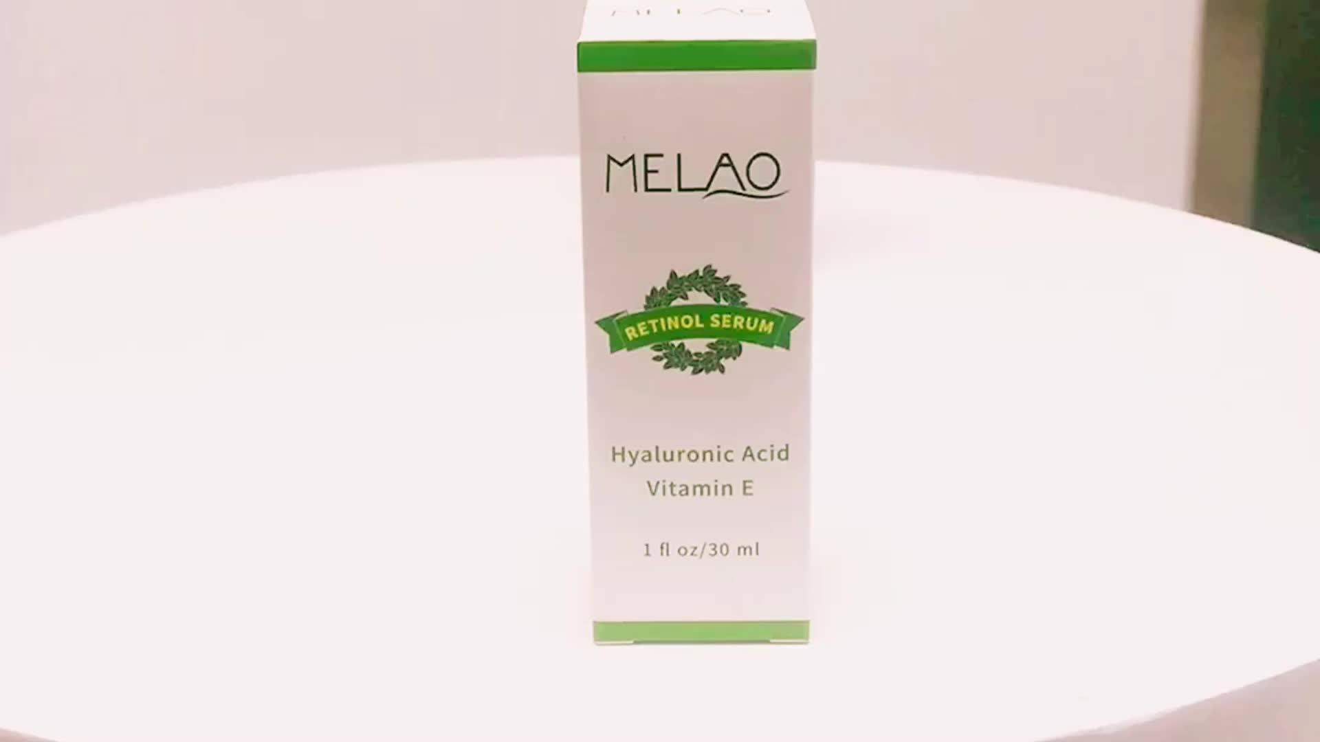 Melao 30ml 1fl oz retinol serum 2.5% with hyaluronic acid vitamin E Wholesale