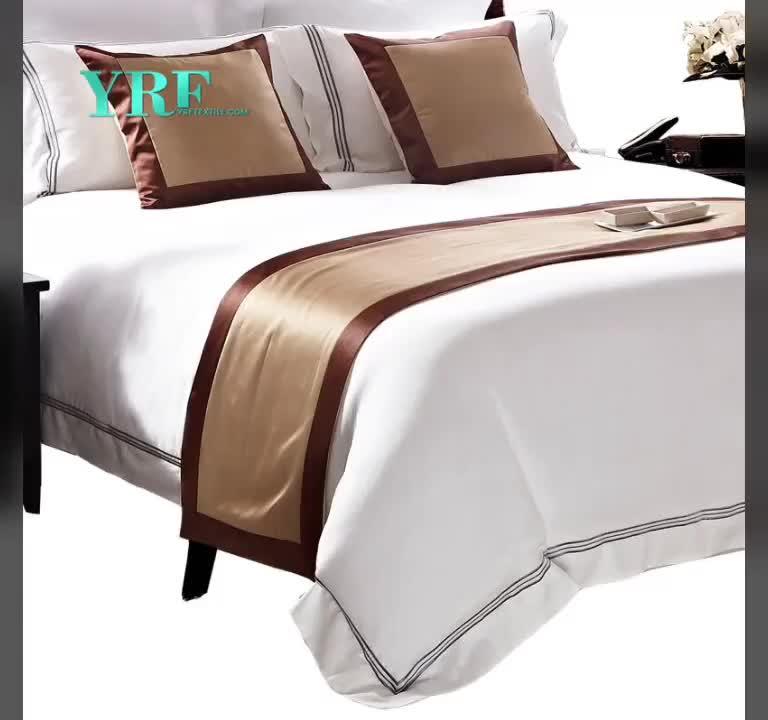 高級ホテル布団カバークイーンサイズのベッドシートセット用スターホテル