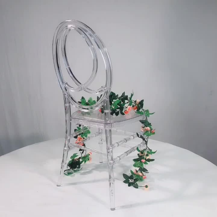 Clear plastic resin chivari tiffany transparent chair for wedding