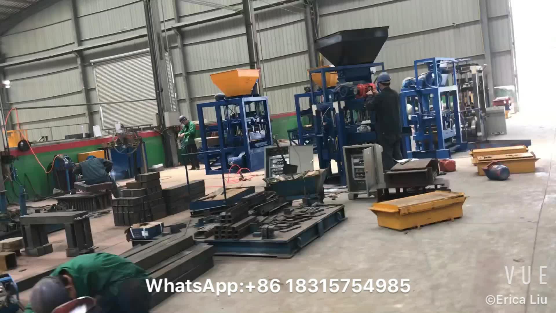 Qt40-1 파키스탄 가격 콘크리트 블록 만들기 기계 포장 재료 벽돌 기계