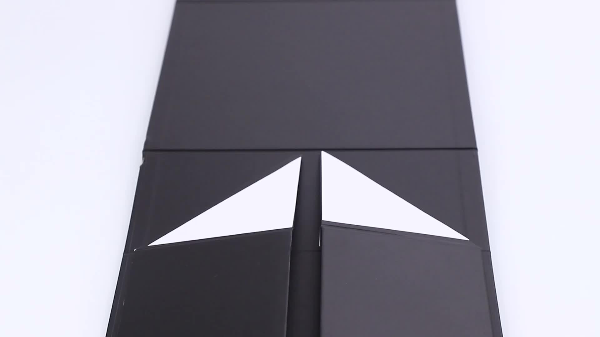 ขายส่งที่กำหนดเองพิมพ์หรูหรากระดาษแข็งสีขาวพับบรรจุของขวัญปิดแม่เหล็กกล่องกระดาษของขวัญ