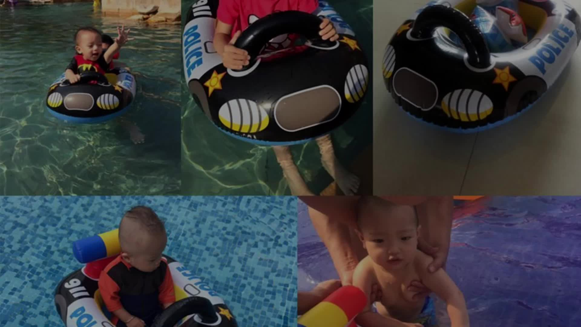Comfortable Kids Floats Ring Safety Adjustable Baby Inflatable Swim Ring