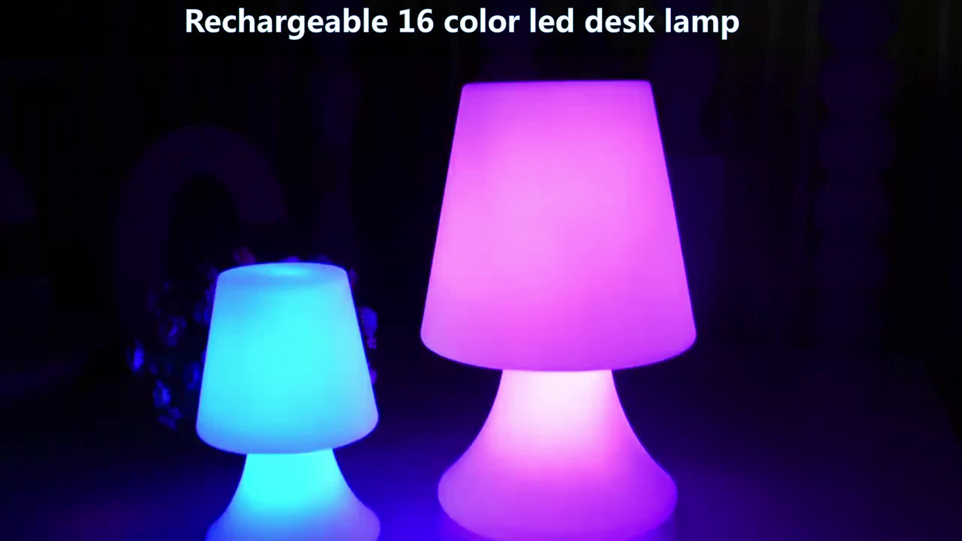 2019 New product  energy saving change color by remote bedroom lighting desk table lamp in bedroom
