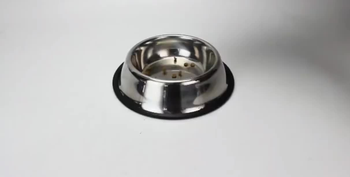 OEM Color Printed Rubber Bottom Stainless Steel Dog Bowl Pet Feeder Pet Dish