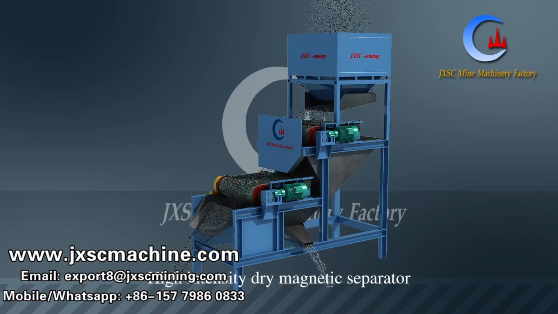 Hohe Intensität Magnetische Separator Weit Genehmigt Magnetische Separator Roller Große Kapazität Magnetische Trennung von Eisen Erz