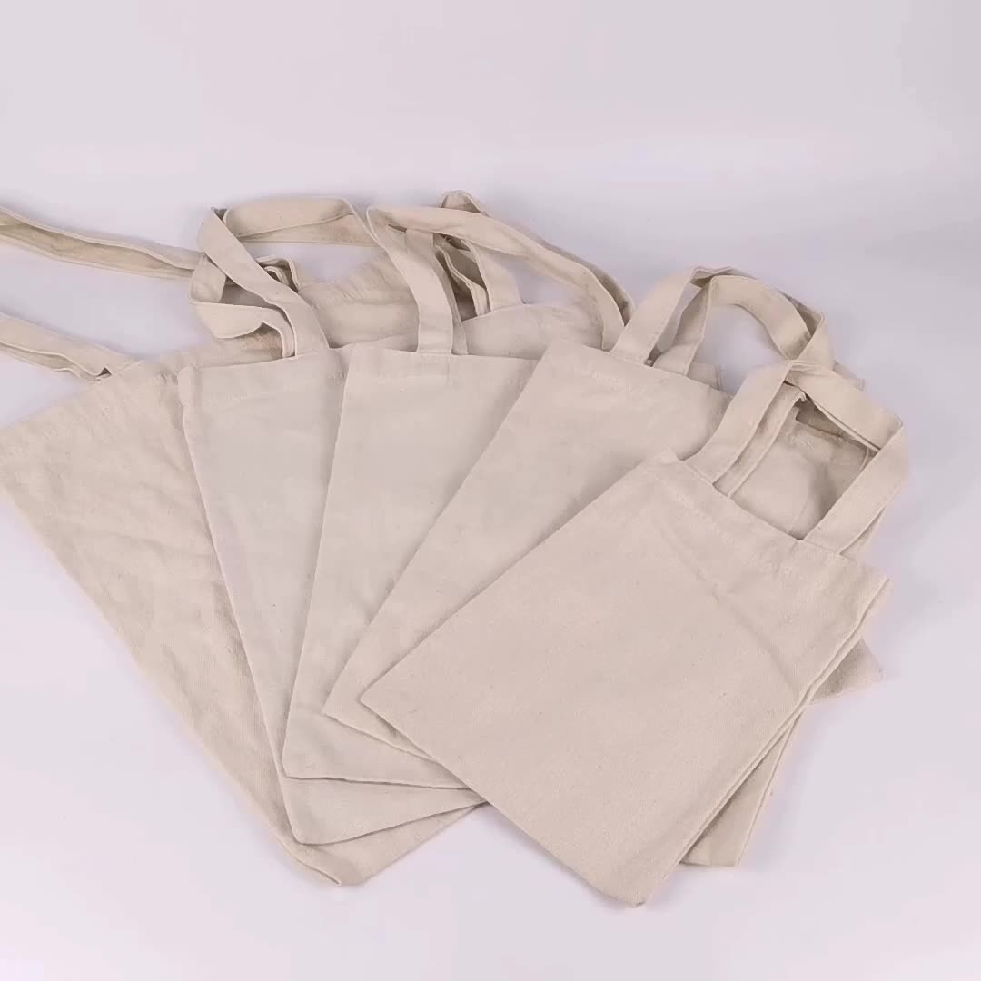 Shopping cotton canvas bag with handle carrier handbag in stock
