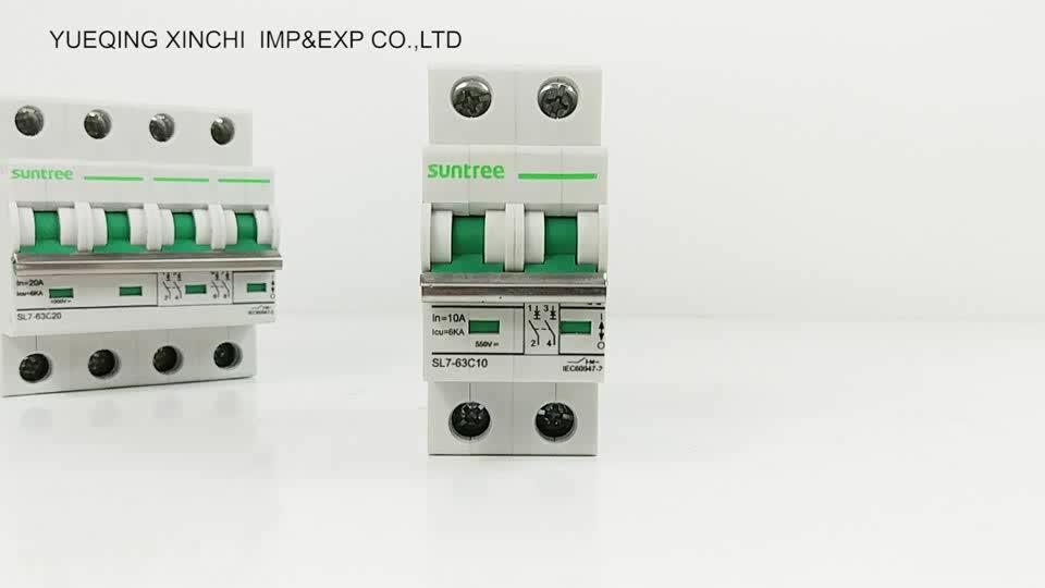 Suntree Zhejiang 10kA 4 P MCB Circuit Breaker, DC Mini Circuit Breaker