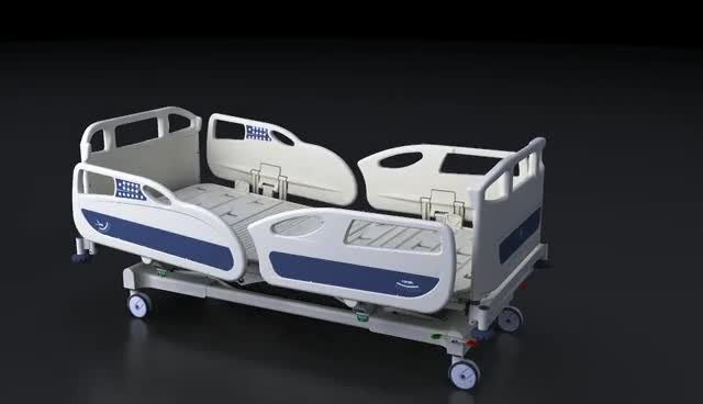 2018 newest high quality multi function electric hospital ICU bed on sale