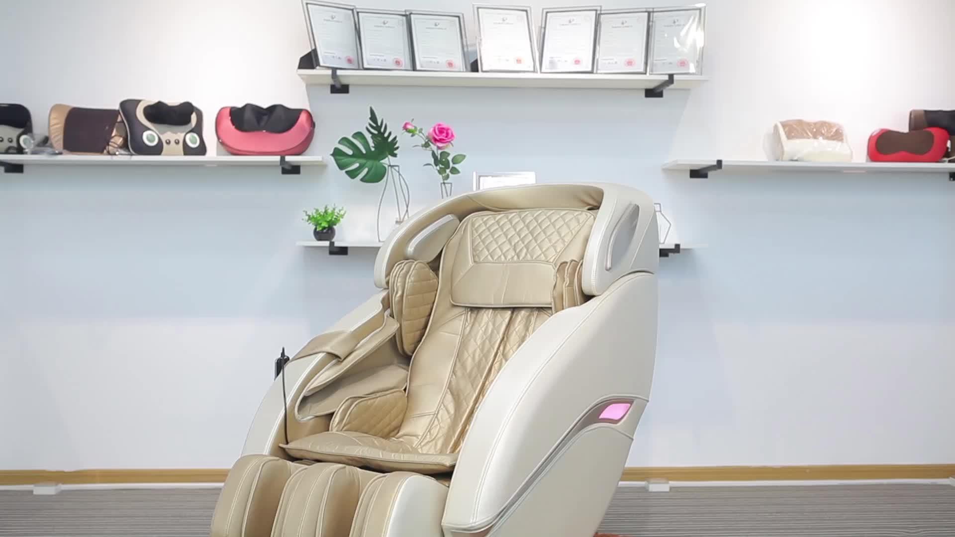 Elektrische Luxus 3D Volle Körper Shiatsu 4D Null Schwerkraft Fuß SPA Multifunktionale Günstige Massage Stuhl