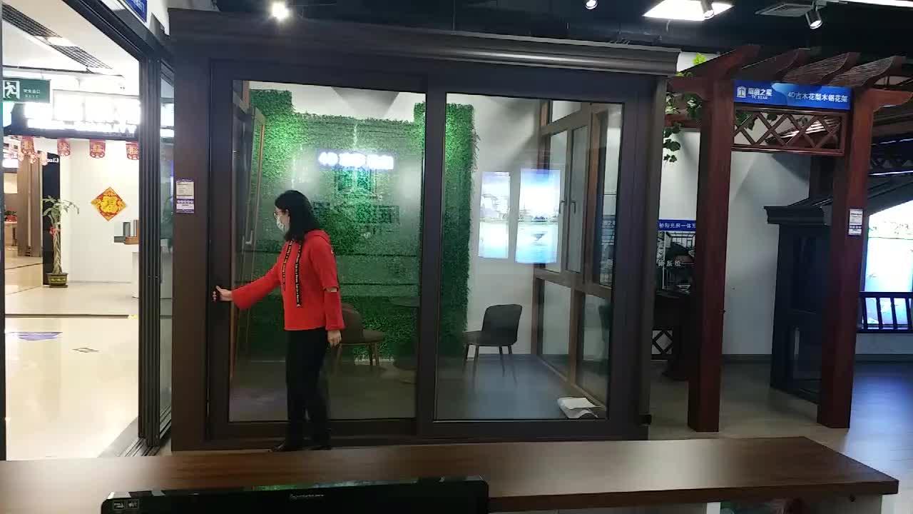 Aluminum Doors And Windows Supplier Balcony Aluminum Sliding Glass Entrance Doors Price