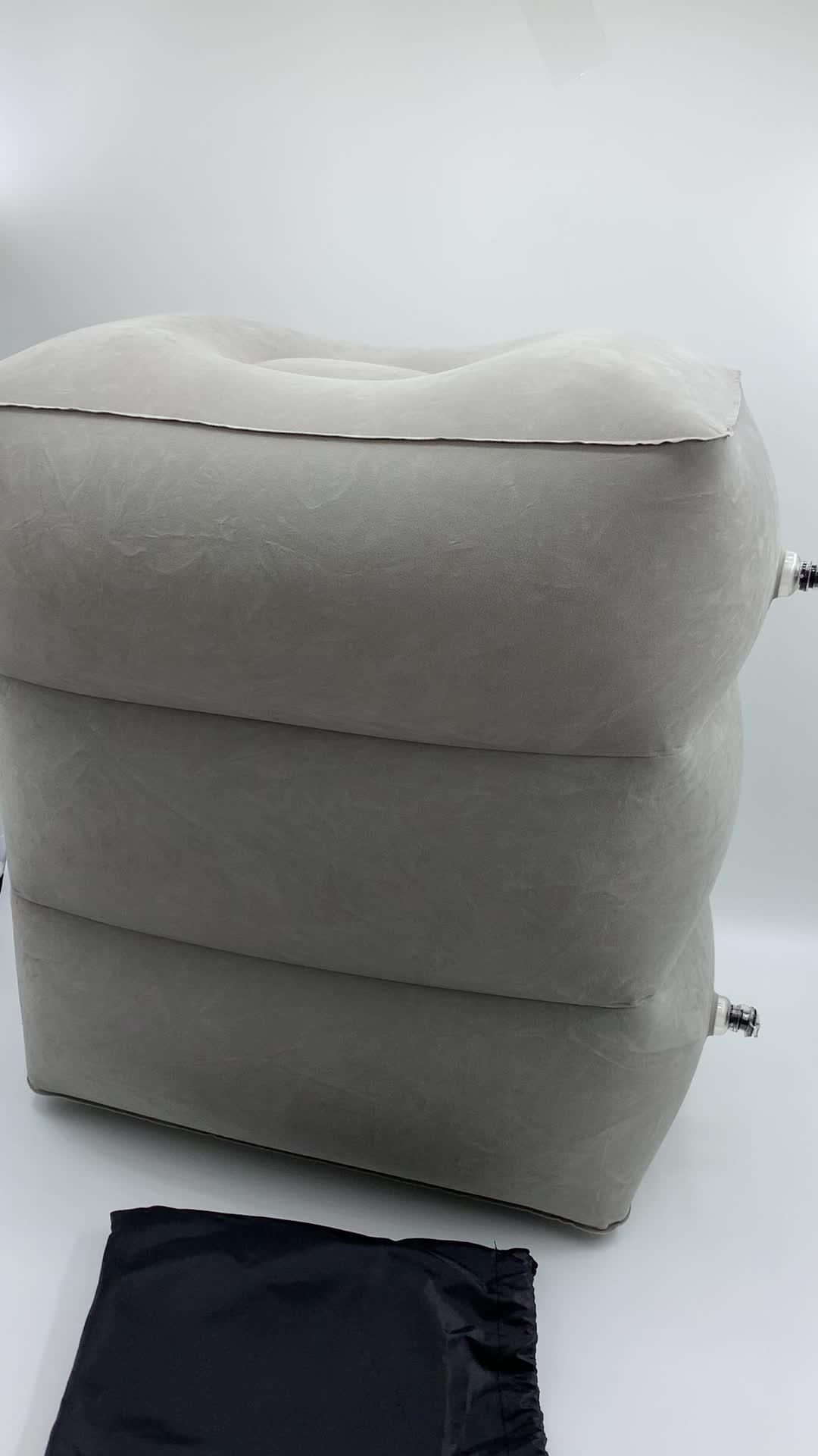De aire portátil altura ajustable almohada inflable de viaje pie resto pie de la pierna resto cojín portátil Pad Oficina pies cojín