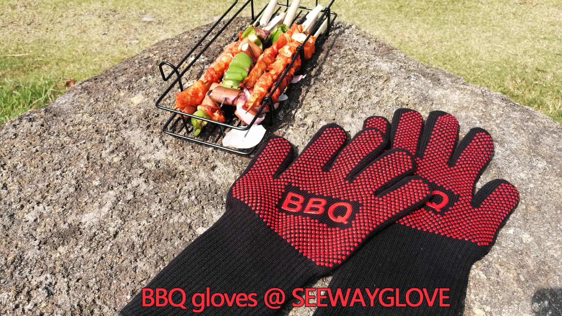 Seeway Low Heat Resistant BBQ Grill Gloves