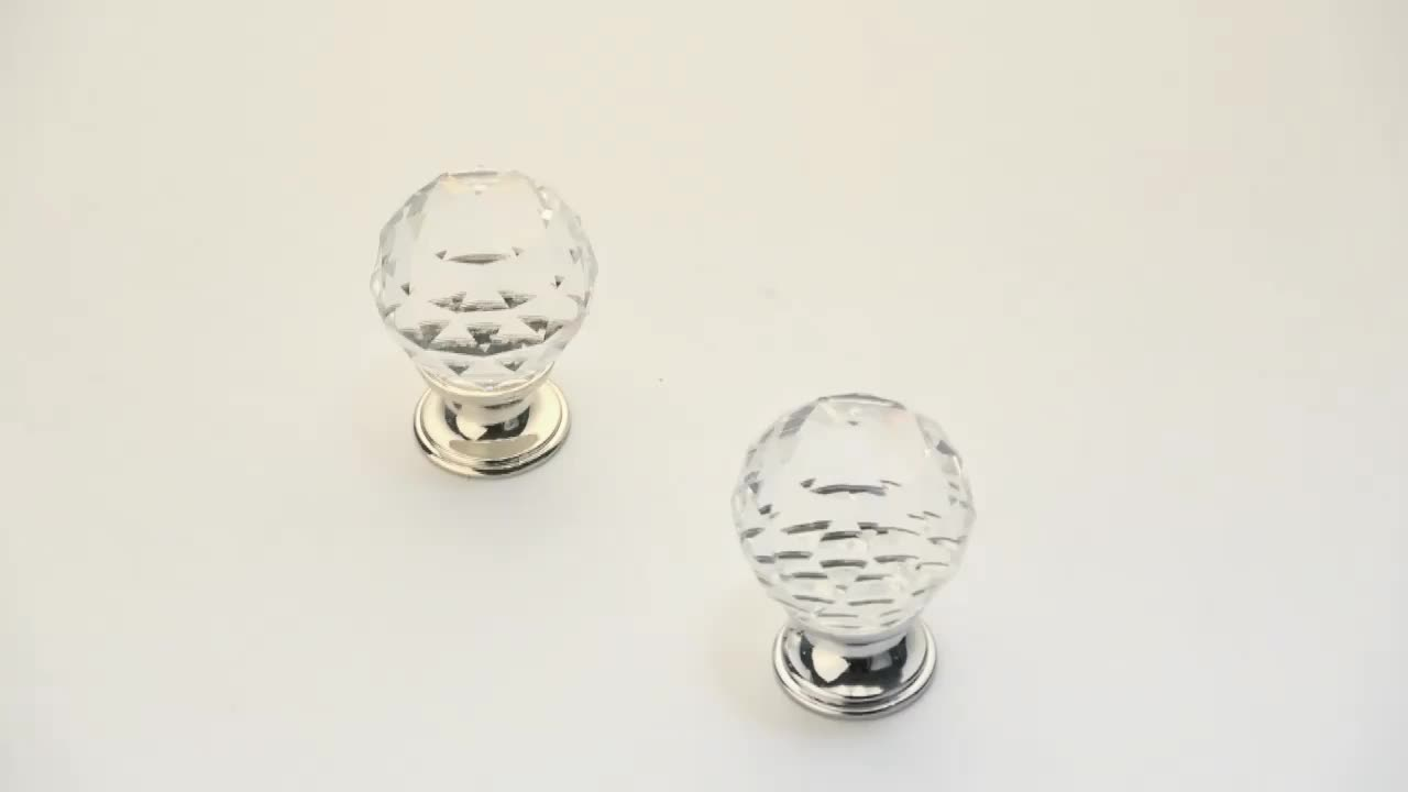 High quality crystal drawer knobs With Different Color And Size 1560