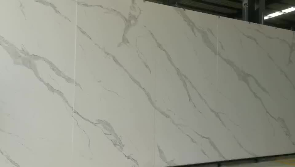 Artificial Stone Calacatta Gold White Marble Big Slabs