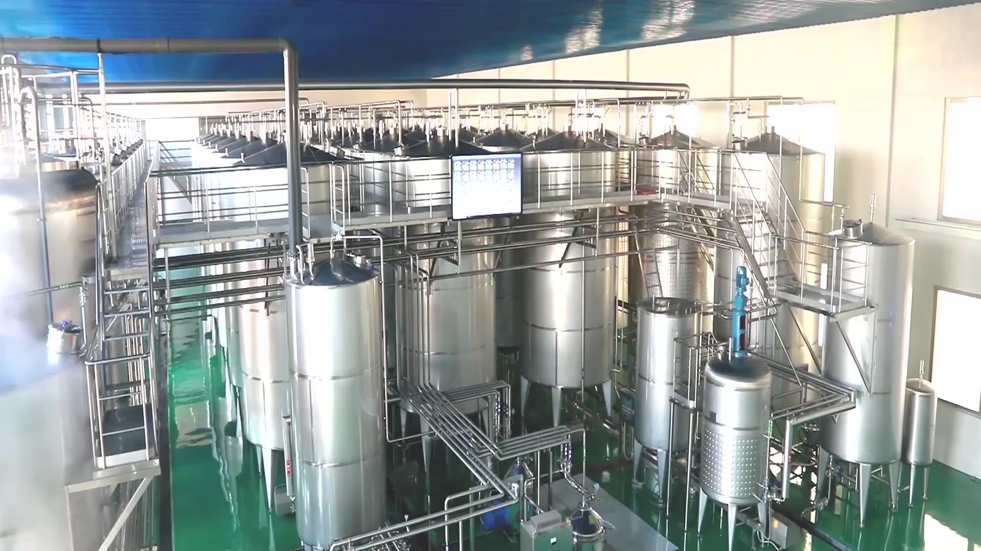 100% 純粋な天然リンゴ酢工場