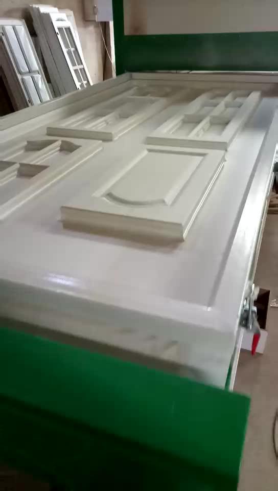 כפול תחנת נגרות pvc דלת למינציה מכונה Automatical ואקום קרום עיתונות מכונת