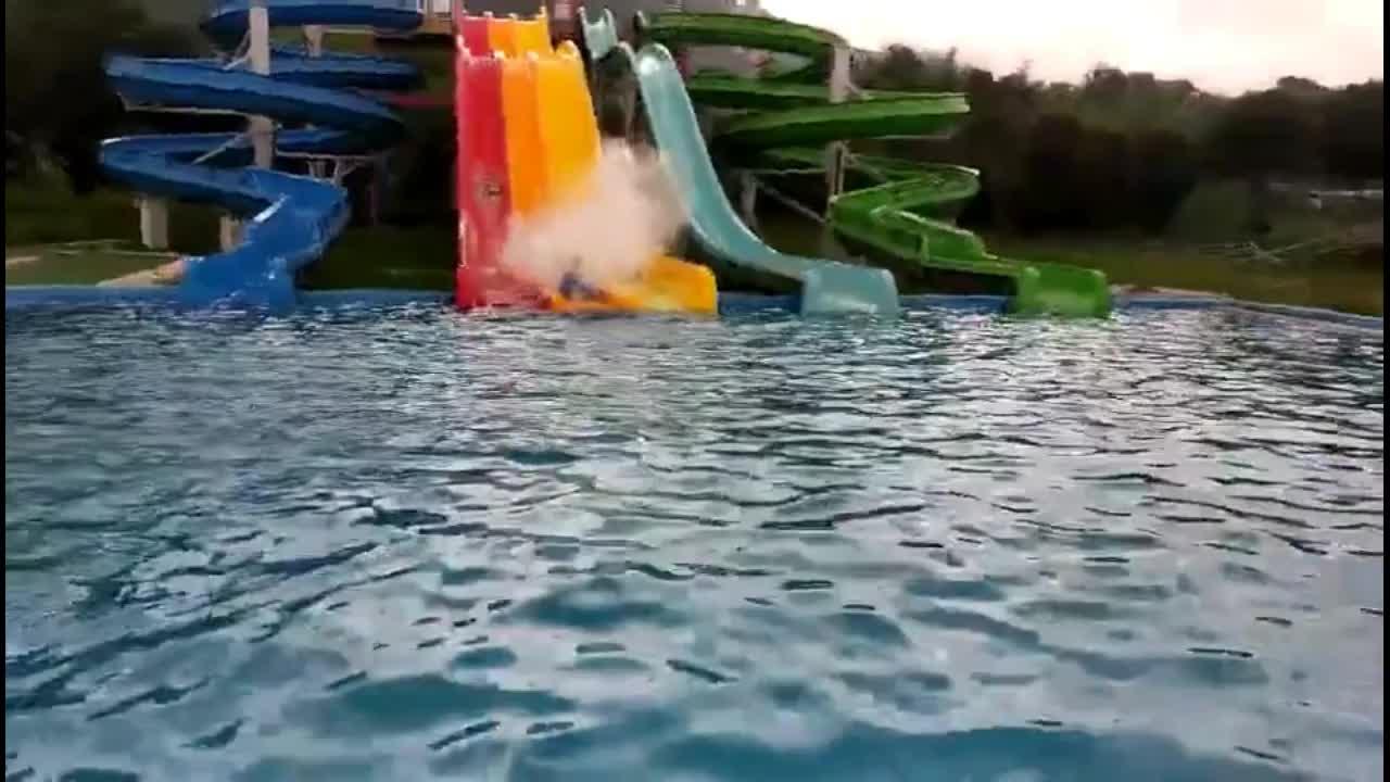Quente no lugar de entretenimento parque aquático de queda livre + novo que é o maior parque aquático do mundo