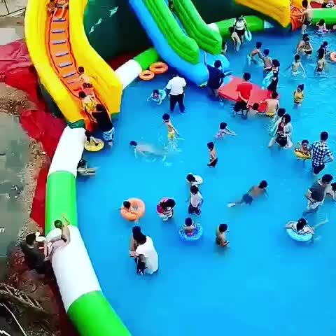 DNL customized inflatables pool swimming