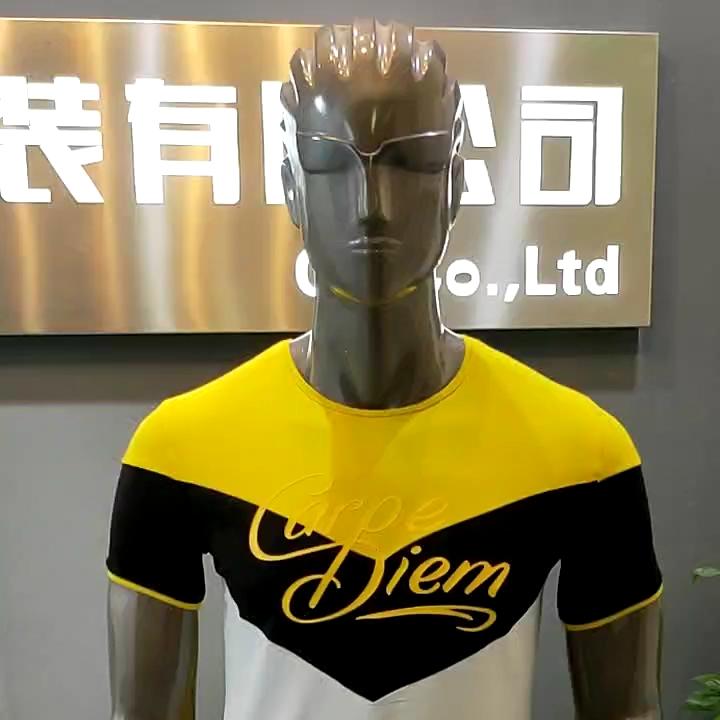 Mens Stampato T-Shirt 100% Del Cotone Del Progettista di Contrasto di Stampa Personalizzata Logo T-Shirt
