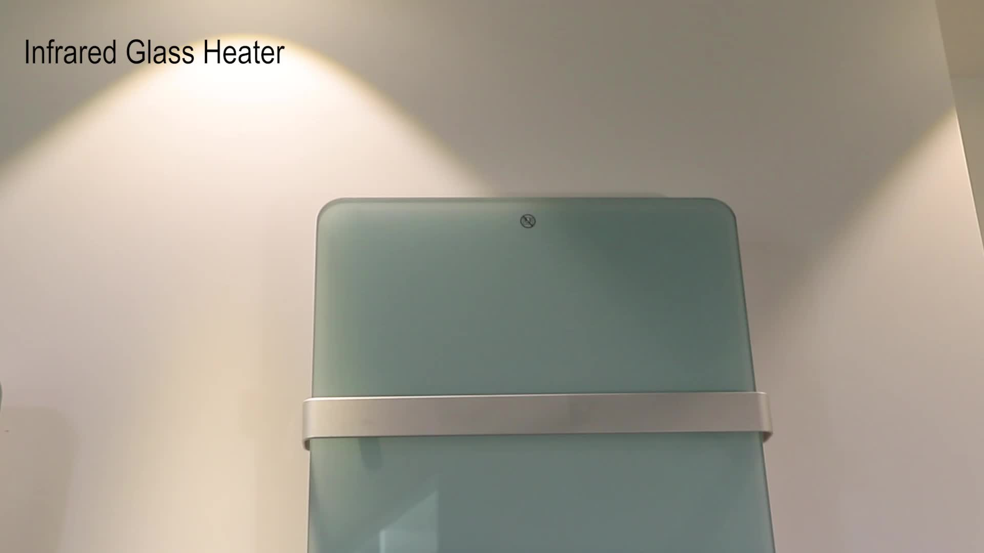 Bathroom infrared glass panel heater with LED display