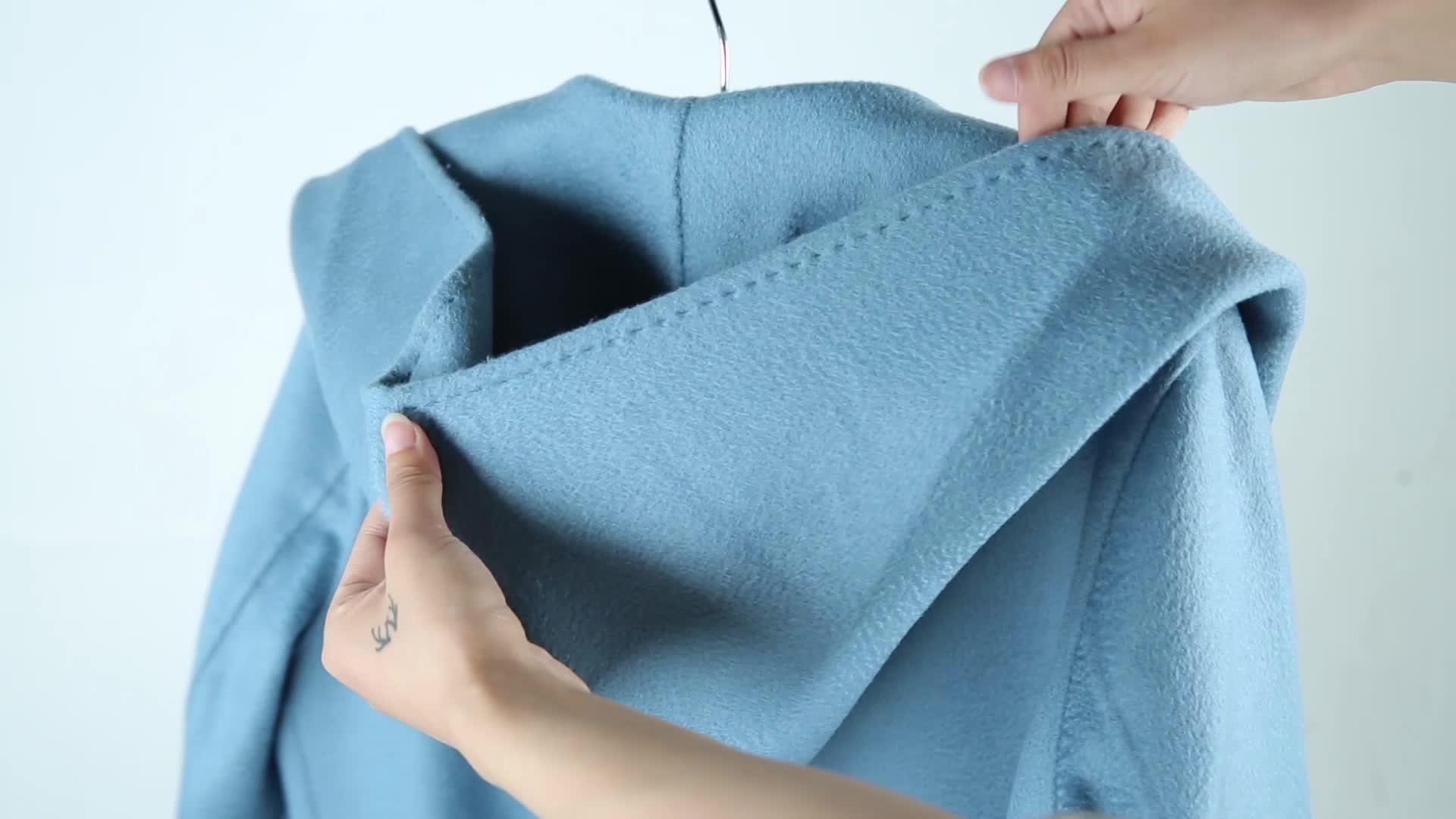 90% Australian Wool 10% แคชเมียร์เสื้อกันหนาวผู้หญิง