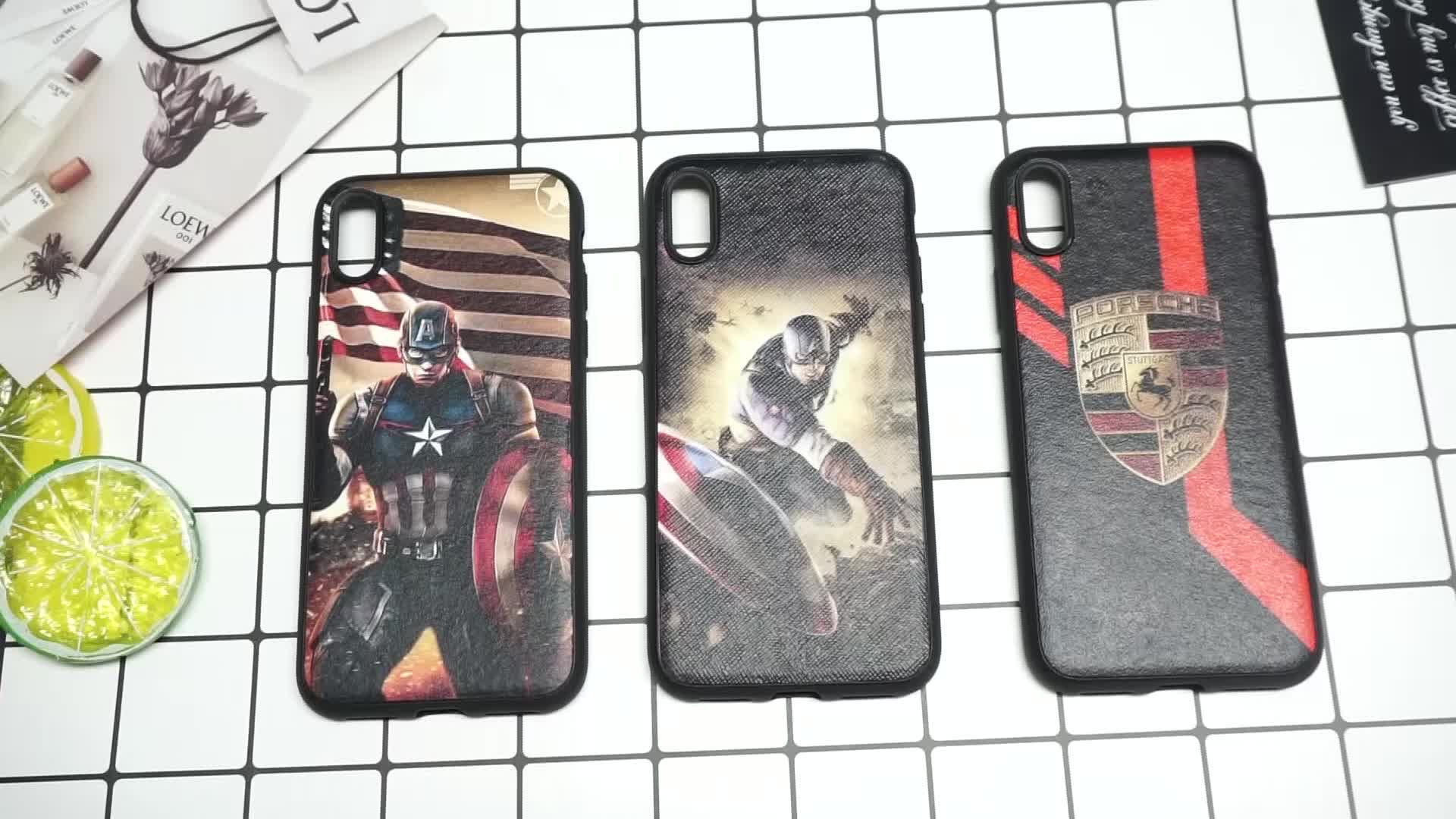 Premium Cool Captain America Pattern Cell Phone Protective For  iPhone X xs Soft Back Case For iPhone Cover