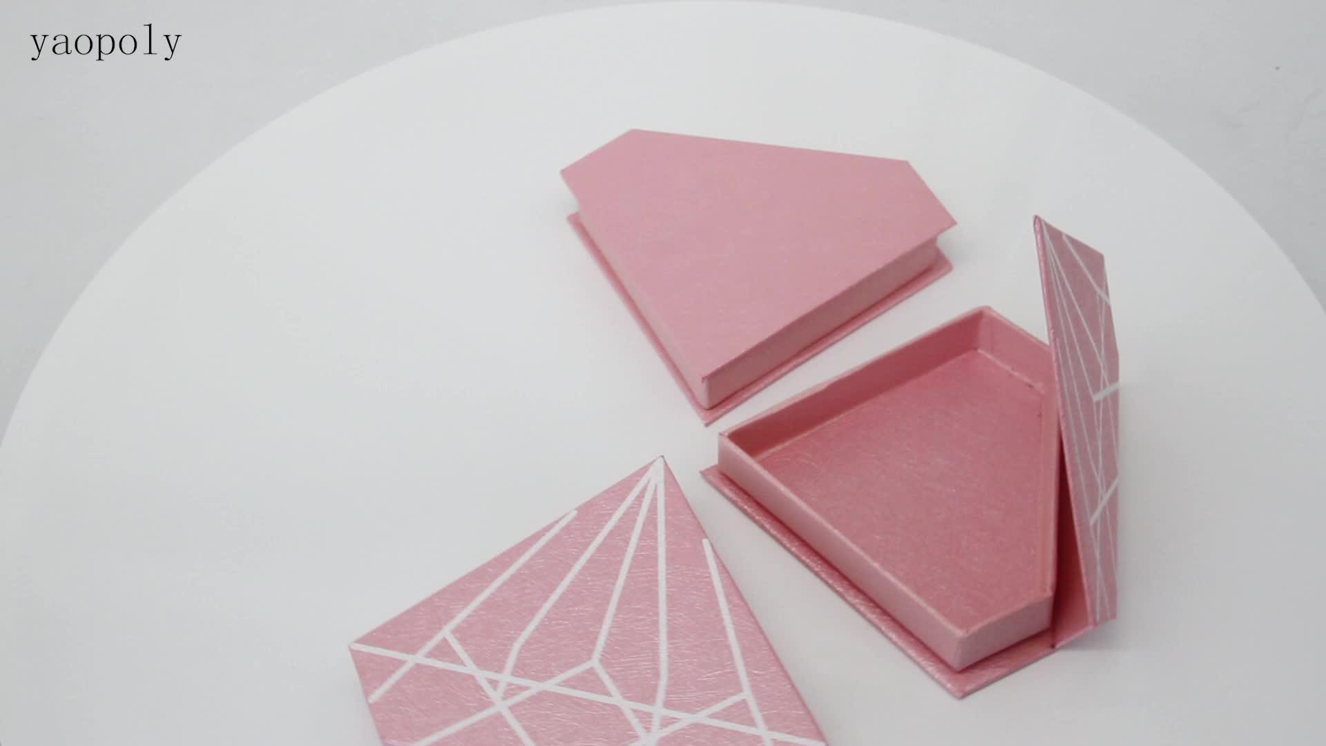 Miglior prezzo di bellezza di lusso adatto 25mm ciglia rosa casella di diamante