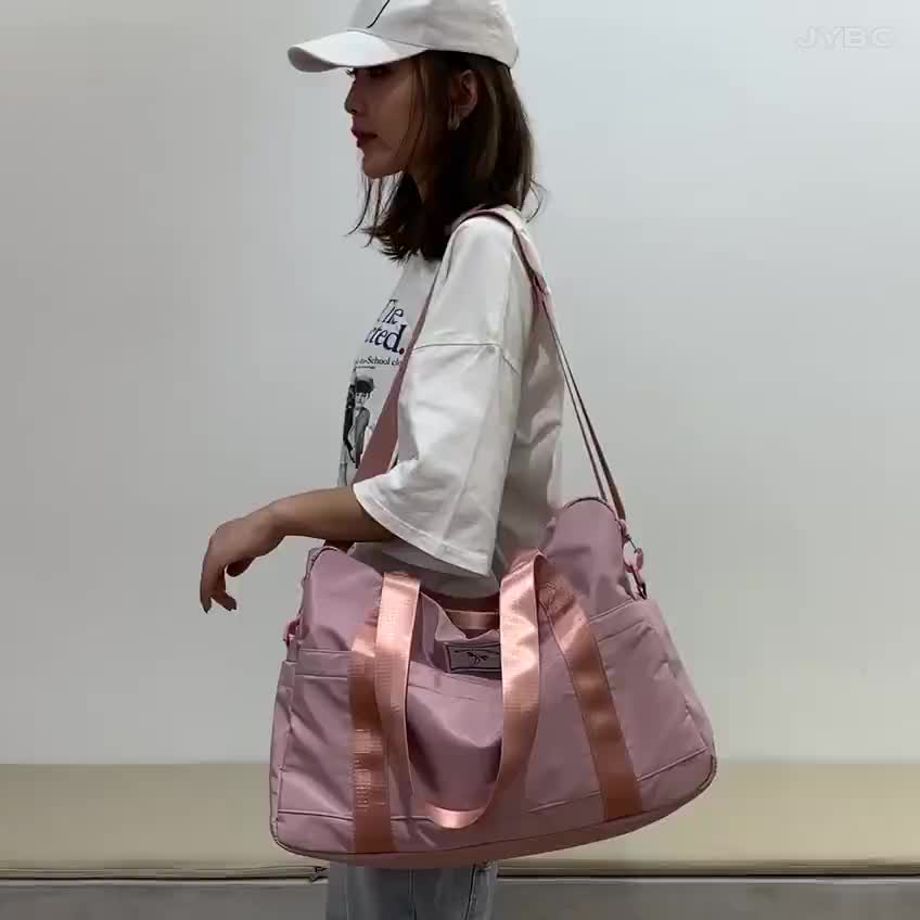 Carry-on Weekend Girls Overnight Holdall Gym Pink Color Women Tote Duffle bag