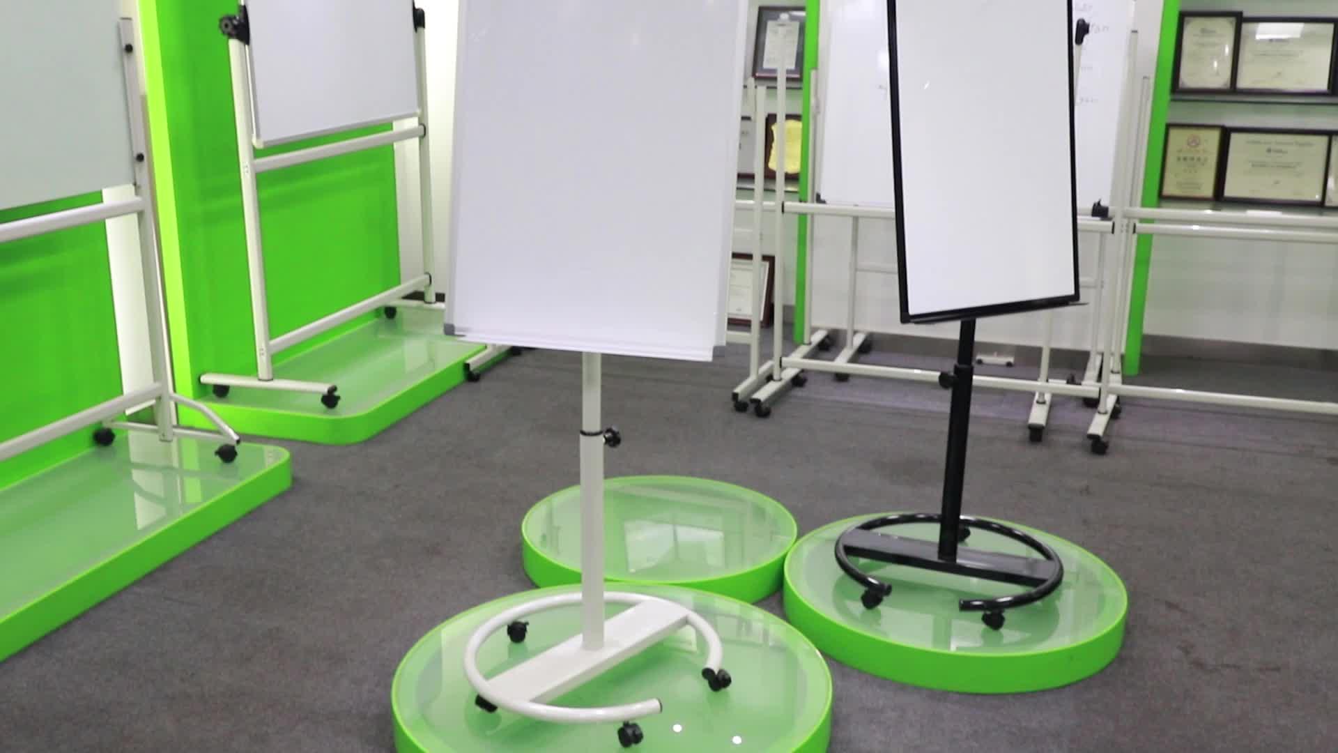 70*100 cm FC-888 Mobiele Flipchart Flip Grafiek Schildersezel Met Whiteboard
