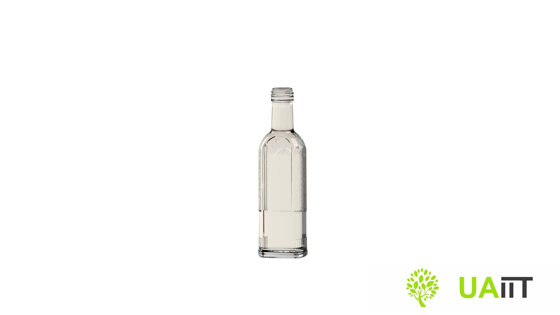 Wodka gin fles 750 ml glazen flessen met kurk