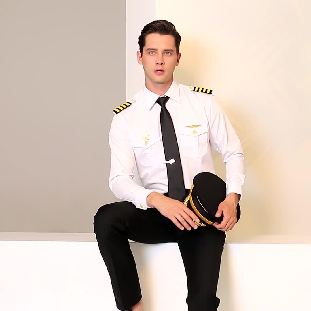 Aviazione uniforme pilota camicia del vestito con le spalla spallina