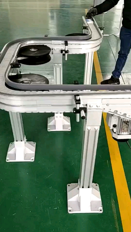 175mm Width Flat Conveyor Flexible Chain plastic table top chain for Food Industry