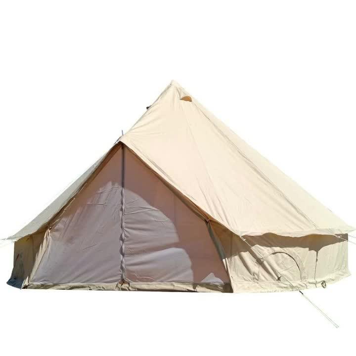 قماش قطن تيبي صحراوي تيبي هرم يورت خيمة ناقوسية الشكل بيع مع سلك مانع للناموس